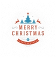 Merry Christmas Greeting Card Typography and
