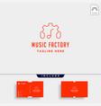 music gear logo design studio headphone vector image vector image
