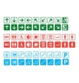 navigation signs set vector image vector image