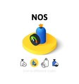 NOS icon in different style vector image