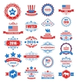 Objects and Symbols for Vote of USA vector image vector image