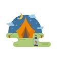 Outdoor tent vector image vector image