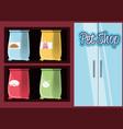pet shop accessories icons vector image