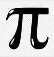 pi symbol icon vector image