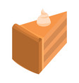 piece of sweet cake icon isometric style vector image