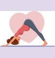 pregnant woman in prenatal yoga pose vector image vector image