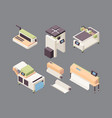 printing service offset printers vinyl board vector image