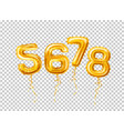 realistic 5678 balloons numbers for a party vector image