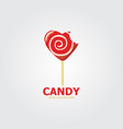 red candy logo vector image vector image