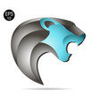 roaring black panther logo color vector image