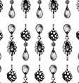 seamless pattern jewels vector image