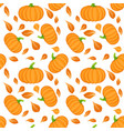 seamless pattern on white background with orange vector image vector image
