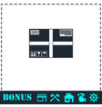 sending box icon flat vector image vector image