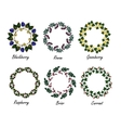 Set of berry frames - wreath vector image