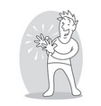 smiling man clapping hands vector image vector image