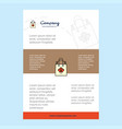 template layout for shopping bag comany profile vector image vector image