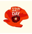 The poppy flower Remembrance Day11th november vector image