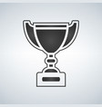 trophy cup award icon in flat style vector image vector image
