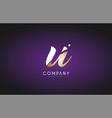 u alphabet letter gold golden logo icon design vector image vector image