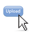 Upload Button Click vector image