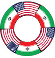 usa and iran flags or banner vector image vector image