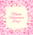 valentines day abstract hearts frame vector image