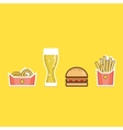 various american food items vector image vector image