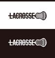 wordmark lacrosse logo on black and white vector image vector image