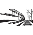 Construction of railway track vector image