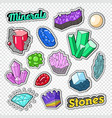 gems stickers badges and patches jewelry stones vector image
