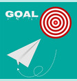 target route success business strategy concept vector image