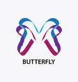 abstract butterfly logo vector image vector image