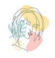 abstract trendy one line drawing woman with vector image vector image