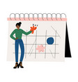 african american woman planning important events vector image