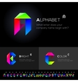 Alphabet Set use as design elements vector image vector image