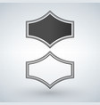 black and white genuine quality badge isolated vector image vector image