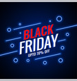black friday sale neon style background design vector image vector image