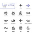 boats - modern line design icons set vector image vector image