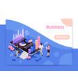 business teamwork page design vector image vector image