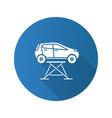 car lift flat design long shadow glyph icon vector image vector image