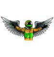 car racing man cartoon design vector image vector image