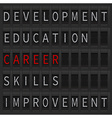 Career concept lettering vector image