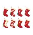 cartoon cute christmas stocking vector image