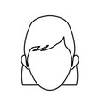character woman head person image contour vector image vector image