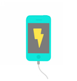 Charging phone Isolated on white vector image vector image
