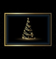 christmas background with golden xmas tree vector image vector image