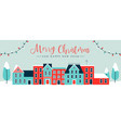 christmas holiday banner winter time greeting card vector image vector image