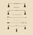 collection of handdrawn borders made with brush vector image vector image