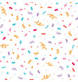 colorful confetti seamless repeat pattern vector image