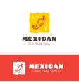 Colorful mexican food logo Mexican